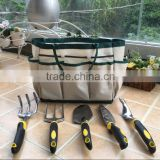 (10101) High quality TPR handle shovel, rake, fork, prong head shovel aluminum garden tools set