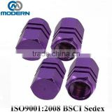 auto Purple Hexagon Aluminum Alloy Tire Valve Caps                                                                         Quality Choice