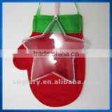 110mm clear plastic star,transparent ornament