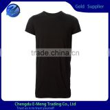 Tailor made mens cheap thin plain t shirt for man extra long                                                                         Quality Choice