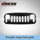 Various colors plastic jeep ABS angry birds grille for wrangler jk/plastic angry bird grile for JK