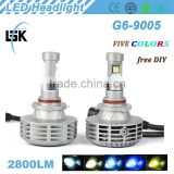Newly American A380 aluminum alloy material 12v-24v g6 led CR EE-XHP50 motor headlight with great quality