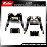 long sleeve cheerleading uniforms&custom cheerleading uniforms&spandex cheerleading uniforms