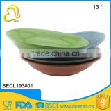 high quality plastic color melamine soup dinner set big bowl