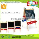 Qualified Educational Wooden White Board Kids Easel with Chalk All-In-One Adjustable Easel Toys EZ2032
