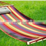 Chinese factory wholesale best price 350g material full sizes hanging hammock with wooden stick