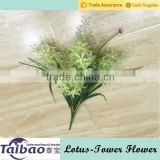 Indoor and outdoor decoration hanging basket green color plastic best artificial flowers online