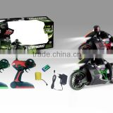 2016 popular plastic kid high speed 4 way rc motorcycle AH028386
