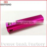 ak-02 hotselling Power bank 3 in 1 flashlight external battery charger alluminium alloy power bank