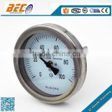 WSS series 100mm industrial bimetal dial thermometers