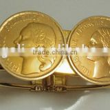 2014SPECIAL DESIGNS REPUBLIQUE FRANCAISE COIN GOLD BANGLE WHOLESALE FASHION JEWELRY ALIBABA IN FRANCE