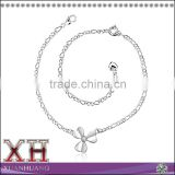 925 Sterling Silver Clover Lady Jewerly Foot Chain Anklet