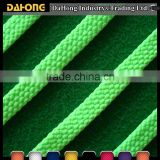 factory price neon green colored polyester flat cord