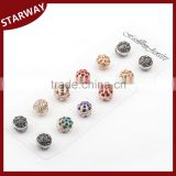Fashion round ball shape rhinestone hijab pins/                                                                                                         Supplier's Choice