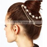 Fashion metal noble gold cystal stone pearls hair combs hair band