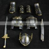 whole set soldier armour equipment metal accessories ,zinc alloy helmet and armour decoration