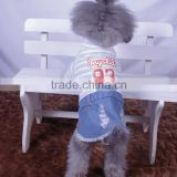 dog sexy girl clothes new design spring summer denim dog skirts dog cotton and water cowboy denim skirts dog apparels