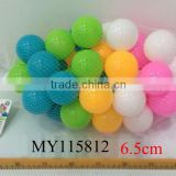 6.5cm eco-friendly colorful soft play pit ball toy for kids 50pcs/bag bulk ball pit balls wholesale ball pit balls
