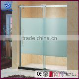 Safe Glass Shower Panel Wall/ Stainless Steel Glass two piece fiberglass shower stall(KD5313)