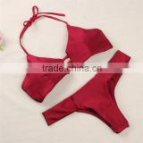 2016 beautiful and cheap wholesale New women sexy Triangle Top String Ties Bikini Swimsuit Swimwear