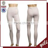 2016 casual wear body fit white color ladies plain dyed tight pants
