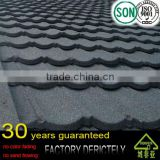 good sand coated metal 100% natural color clay roof tiles