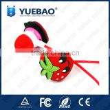 Custom shape 3D strawberry earphone with tube packaging                                                                         Quality Choice