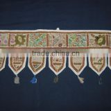 Mirror Embroidery Work Door Hanging Traditional Handmade Cotton Door Hanging Toran