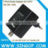 F FEMALE JACK Switching power supply adapter adaptor for CATV Amplifiers