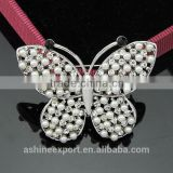 Cute animal series-noble beautiful pearl butterfly wing brooch/handmade rhinestone brooch