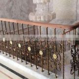 2015 new design cheap wrought Iron fence panel and post for garden and home factory direct wholesale