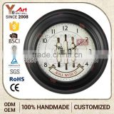 Low Cost Customized Logo Printed Bulk Digital Wall Clocks Clock With Backlight
