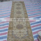 iranian silk carpet handknotted rug persian design runner