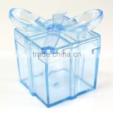 Clear Square Gift Box With Bow Plastic Favor Box