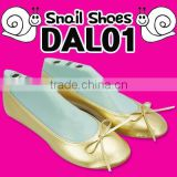 Portable shoes (DAL01) Snail shoes 220mm~260mm (Gold/Black 2 colors)/Loafer shoes for women/Women flat shoes