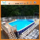 Metal frame used fiberglass pools with free pump accessary