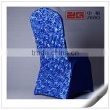 Colorful Banquet and Wedding Used Spandex Fabric Cheap Rosette Chair Covers