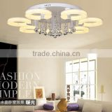 Zhongshan modern led ring chandelier lighting LED crystal chandelier