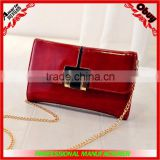 2015 lady leather purse with chain strap