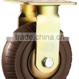 150 mm Fixed Foaming Double Ball Bearing Caster 5mm bracket