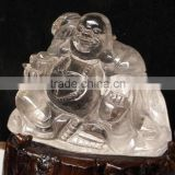 natural religious crystal carving figure of Buddha