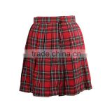 British Style School Girls Pleated Plaid Skirt Unifom