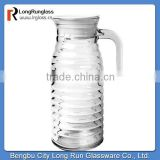 LongRun drinkware collection set of six swirl glass water bottle with unique handle