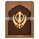 3D gold foil home decor 24k gold foil Khanda hot selling in India