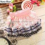 New Children Kids Girl's Wear Casual Cute Lovely Elastic Waist Lace Patchwork Floral Skirt