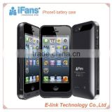 iFans 2400mah For iphone 5 battery case,hot sell battery case for iPhone 5, 2400mAh battery case with MFi