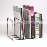 wrought iron wall magazine rack /office file rack