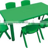 China Feiyou Amusement School using moon shape table kids LLDPE plastic desk and chair, kindergarten furniture