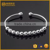 Bead silver plated open bangle costume jewelry fashion bracelets for women jewellery wholesale