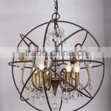 MC2100-5 40W E12/E14 Orb Chandelier Crystals Chandelier Parts Vintage Light Bulb Lighting Lamp